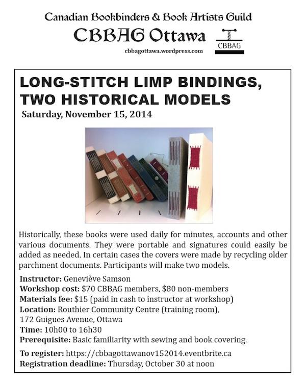 long stitch limp bindings