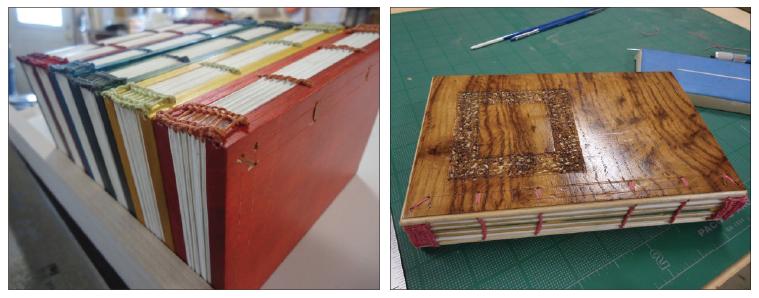 wooden board binding