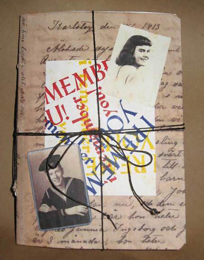I Remember You, Ruth & Ken (2012). Artist book by Nancy Trottier.